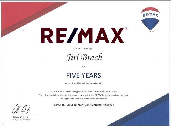 v r. 2018 pět let pod značkou RE/MAX