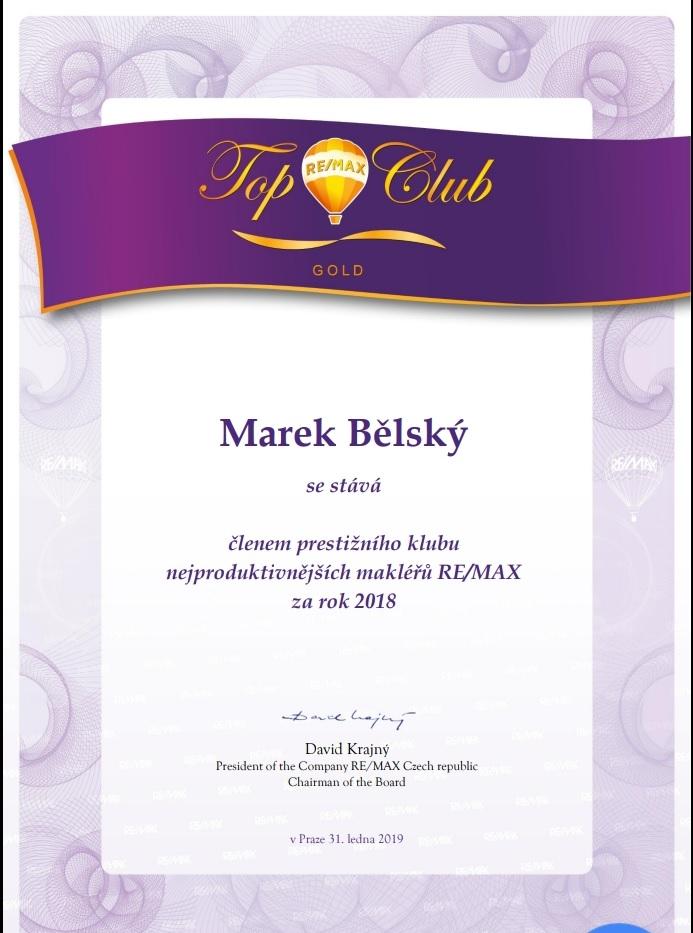 Aktuální ocenění Top Club Gold