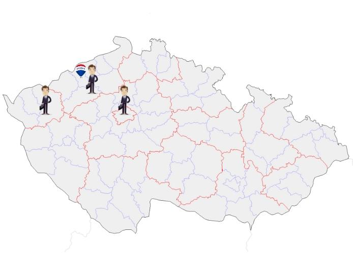 Zde všude se můžeme společně potkat. (Ústecký kraj, Karlovarský kraj, Středočeský kraj a Praha)