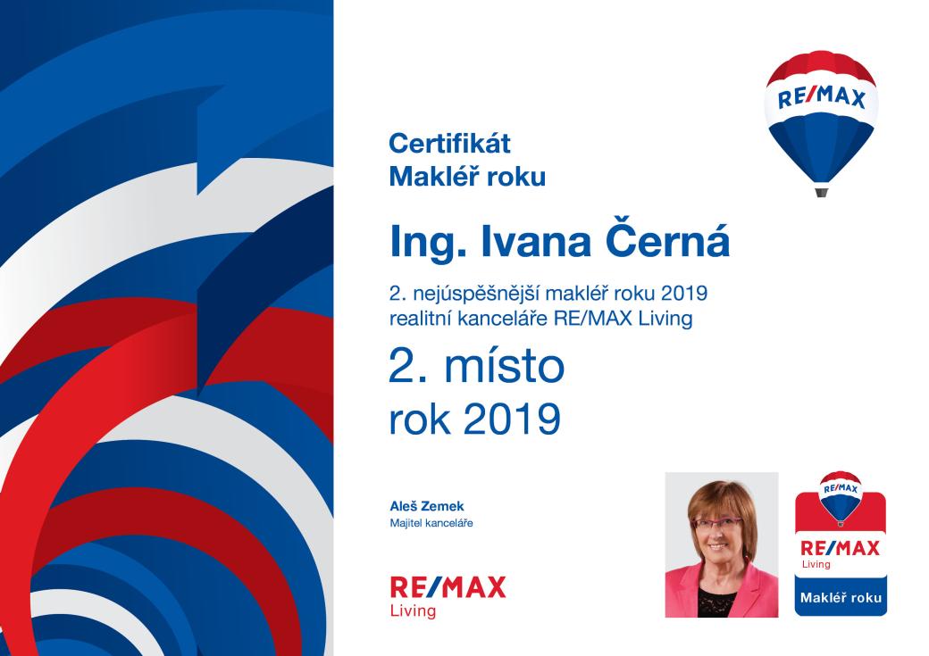 Ivana Černá 2. místo | RE/MAX Living 2019