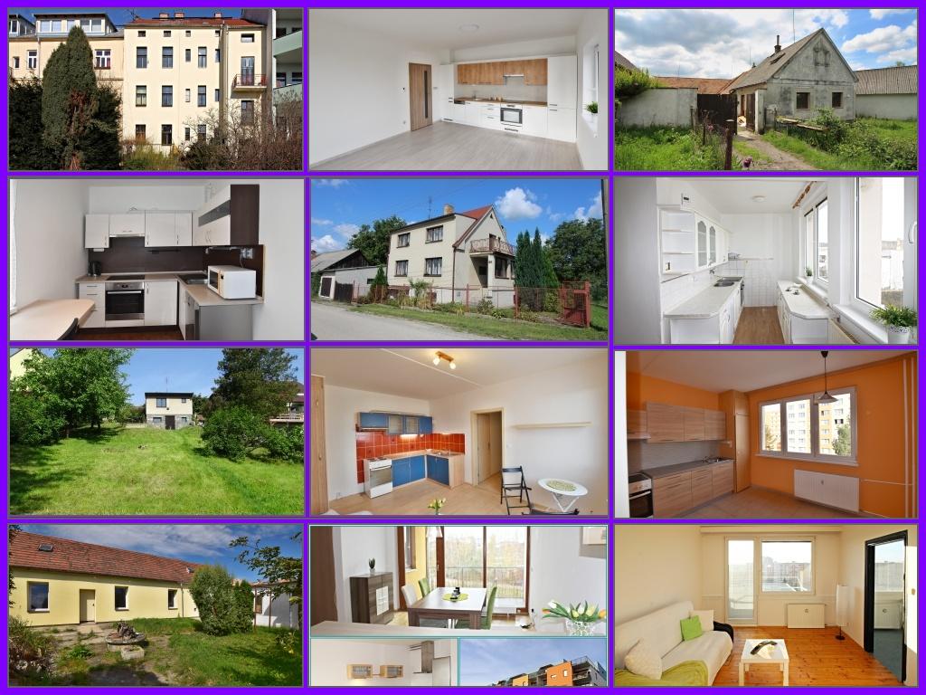 výběr z prodaných a pronajatých nemovitostí