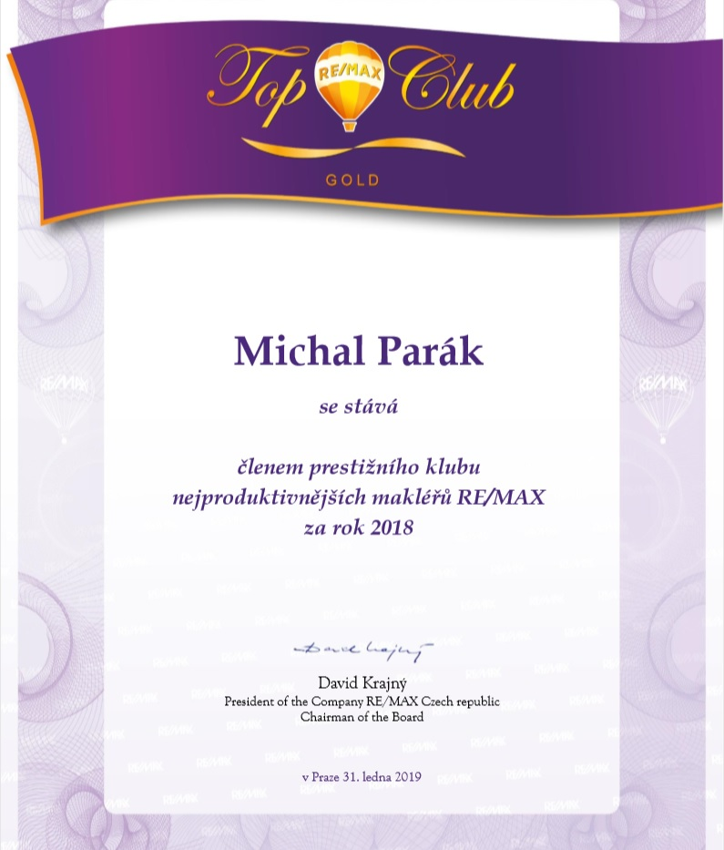 Ocenění RE/MAX Top Gold Club