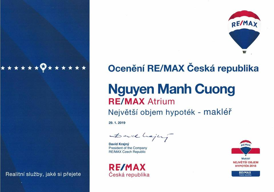 Ocenění RE/MAX Česká republika