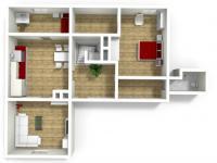 Půdorys podkrovní byt (Prodej restaurace 750 m², Hromnice)