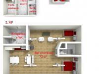 : 2 NP stodoly - byt - Prodej domu v osobním vlastnictví 1080 m², Nevid