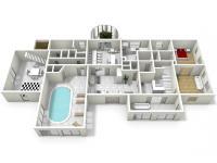 : 1NP pensionu (Prodej domu v osobním vlastnictví 1080 m², Nevid)