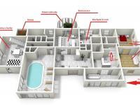 : 1NP pensionu - Prodej domu v osobním vlastnictví 1080 m², Nevid