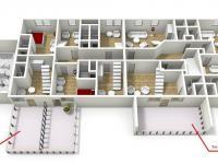 : 2 NP pensionu (Prodej domu v osobním vlastnictví 1080 m², Nevid)