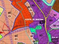 : územní plán výřez - Prodej pozemku 5398 m², Chválenice