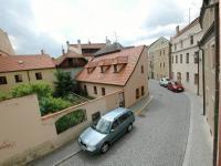 Pohled z okna (Prodej domu v osobním vlastnictví 400 m², Prachatice)