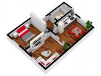 Pronájem bytu 2+1 v osobním vlastnictví 48 m², Plzeň