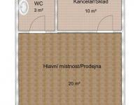 Pronájem obchodních prostor 30 m², Dobřany