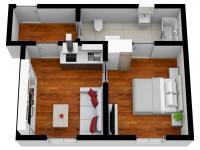 Pronájem bytu 2+kk v osobním vlastnictví 32 m², Plzeň