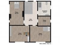 : první patro - Prodej domu v osobním vlastnictví 202 m², Letkov