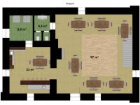 : přízemí - Prodej domu v osobním vlastnictví 500 m², Horšice