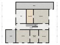 2D půdoprys přízemí - Prodej domu v osobním vlastnictví 320 m², Manětín