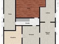 2D půdorys podkroví - Prodej domu v osobním vlastnictví 320 m², Manětín