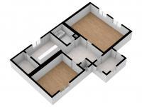 3D vizualizace - Prodej chaty / chalupy 85 m², Planá