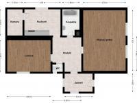 2D vizualizace - Prodej chaty / chalupy 85 m², Planá