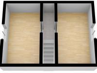 3D vizualizace podkroví - Prodej domu v osobním vlastnictví 82 m², Zádub-Závišín