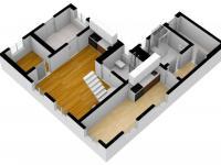 3D vizualizace - Prodej domu v osobním vlastnictví 82 m², Zádub-Závišín