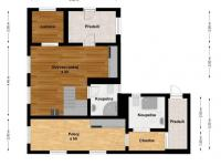 2D vizualizace - Prodej domu v osobním vlastnictví 82 m², Zádub-Závišín