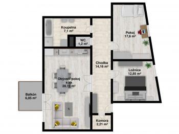 Pronájem bytu 3+kk v osobním vlastnictví 89 m², Plzeň