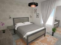 Vizualizace ložnice - Pronájem bytu 2+kk v osobním vlastnictví 45 m², Plzeň