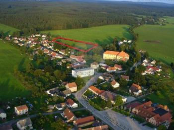 Letecký pohled-Rapšach - Prodej pozemku 11557 m², Rapšach
