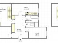 Půdorys (Prodej bytu 4+1 v osobním vlastnictví 92 m², Praha 5 - Smíchov)