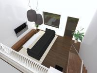 Návrhová vizualizace rekonstrukce (Prodej bytu 4+1 v osobním vlastnictví 92 m², Praha 5 - Smíchov)