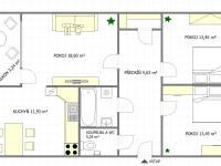 Půdorys (Prodej bytu 3+1 v osobním vlastnictví 69 m², Praha 9 - Černý Most)