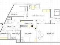 Půdorys (Pronájem bytu 4+1 v osobním vlastnictví 193 m², Praha 5 - Stodůlky)