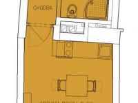 Prodej bytu 1+kk v osobním vlastnictví 35 m², Praha 5 - Košíře