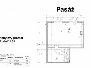 Pronájem obchodních prostor 60 m², Řevnice