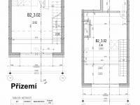 Půdorys - Prodej bytu 2+kk v osobním vlastnictví 70 m², Řevnice