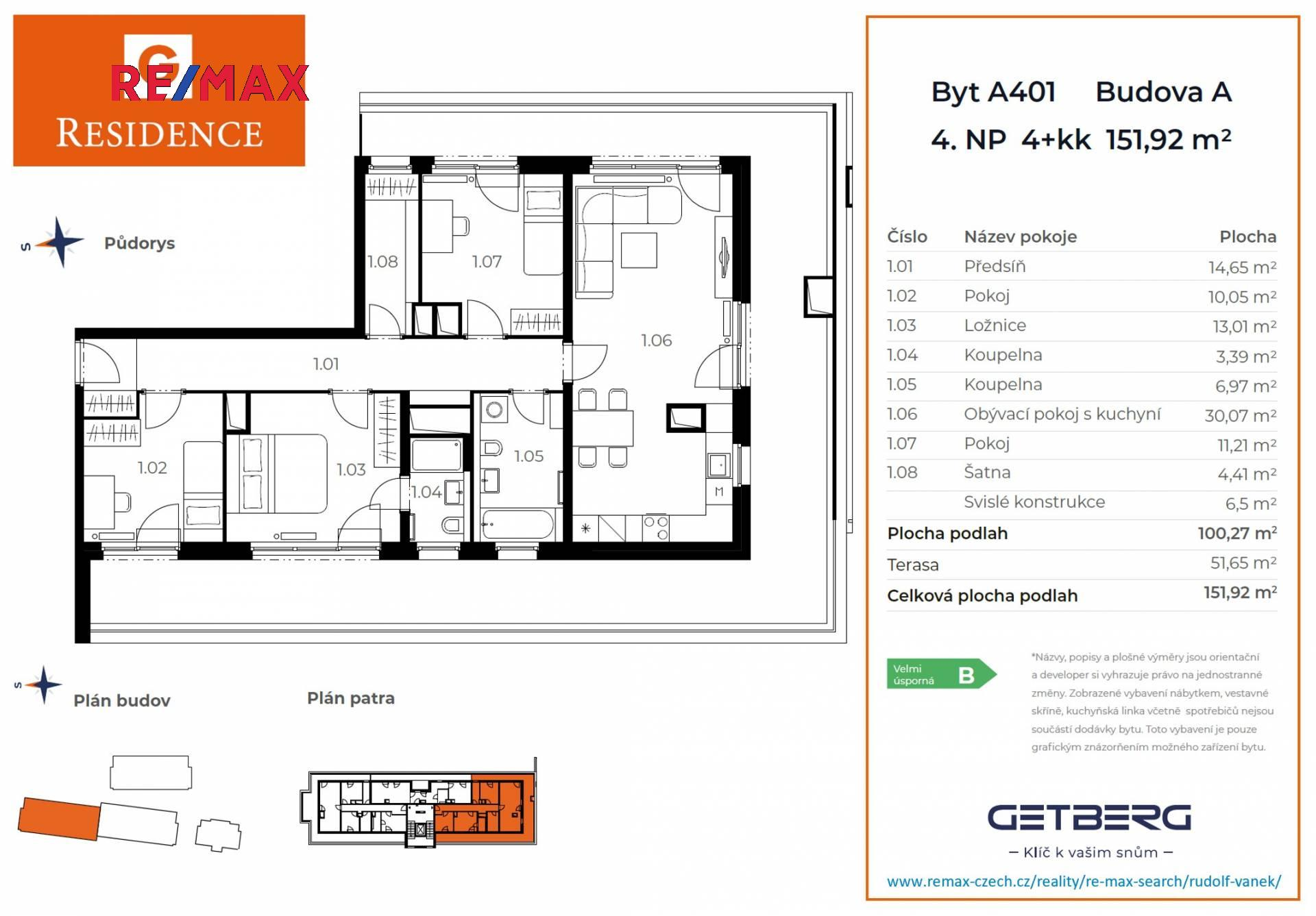 PProdej bytu 4+kk v osobním vlastnictví 120 m², Unhošť