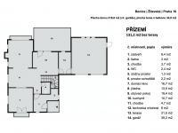 plan přízemí - Prodej domu v osobním vlastnictví 220 m², Praha 10 - Benice