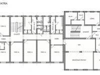 Půdorys 1. patro (Prodej penzionu 1670 m², Lučany nad Nisou)