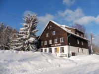 Zimní pohled - Prodej penzionu 1670 m², Lučany nad Nisou