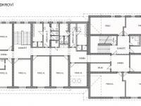 Půdorys 2. patro (Prodej penzionu 1670 m², Lučany nad Nisou)
