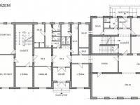 Půdorys přízemí - Prodej penzionu 1670 m², Lučany nad Nisou