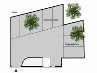 Parkování ve dvoře (Prodej bytu 3+kk v osobním vlastnictví 82 m², Praha 7 - Holešovice)