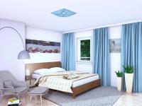 Vizualizace ložnice (Prodej bytu 3+kk v osobním vlastnictví 82 m², Praha 7 - Holešovice)