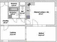 Prodej bytu 2+kk v osobním vlastnictví 53 m², Praha 10 - Horní Měcholupy