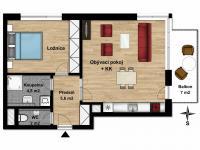Prodej bytu 2+kk v osobním vlastnictví 55 m², Praha 9 - Vysočany