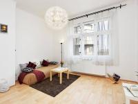 obývák (Prodej bytu 2+kk v osobním vlastnictví 55 m², Praha 7 - Holešovice)