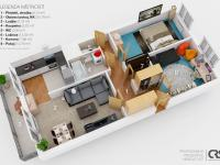 vizualizace (Prodej bytu 3+1 v osobním vlastnictví 75 m², Praha 9 - Prosek)