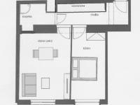 orientační plánek (Pronájem bytu 2+kk v osobním vlastnictví 52 m², Praha 4 - Nusle)