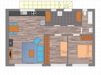 Pronájem bytu 3+kk v osobním vlastnictví 67 m², Králův Dvůr